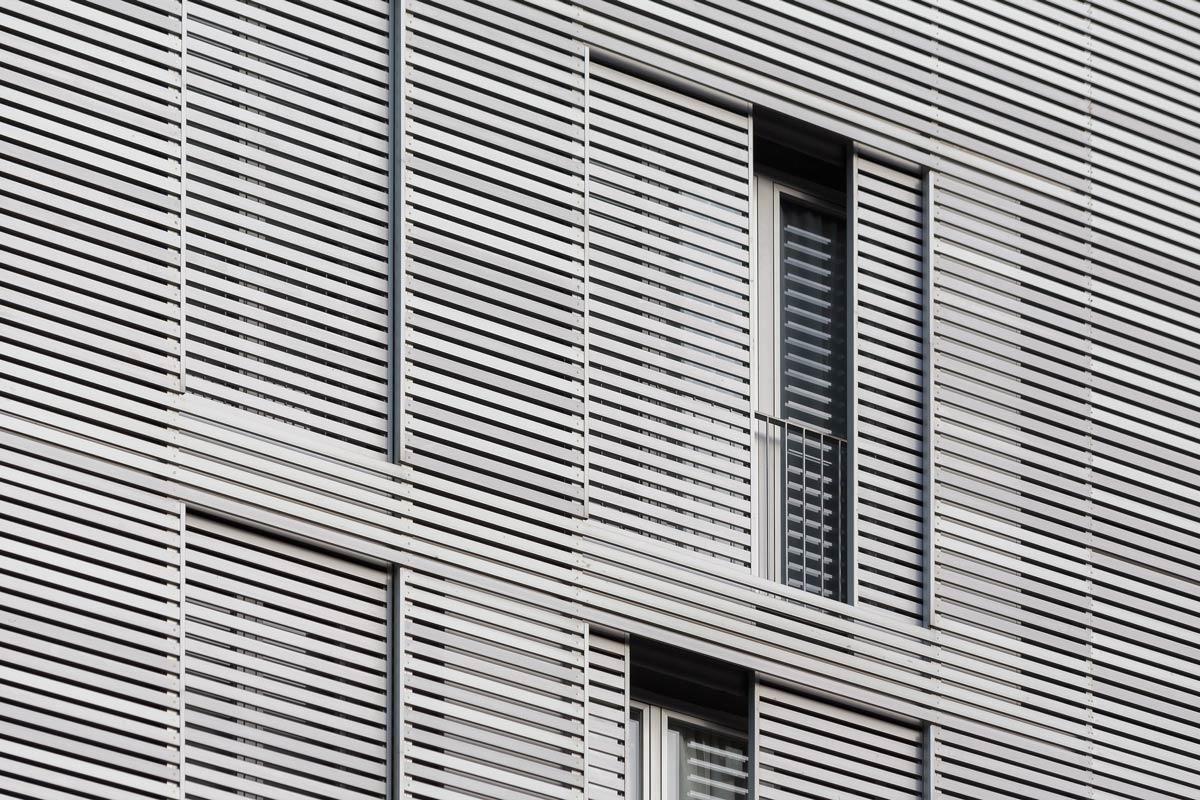 Detall façana, 10 habitatges a horta guinardó, carrer Mare de deu de montserrat, barcelona