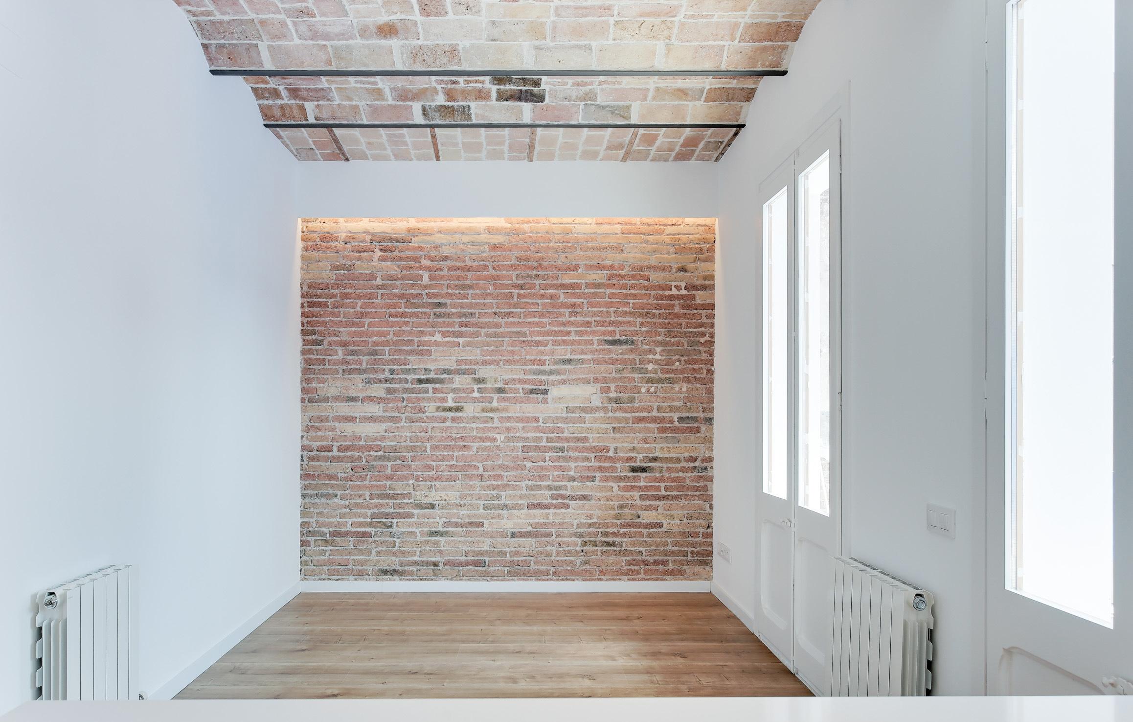 Menjador, Reforma d'edifici per a 13 habitatges, st-antoni-maria-claret-120, Barcelona