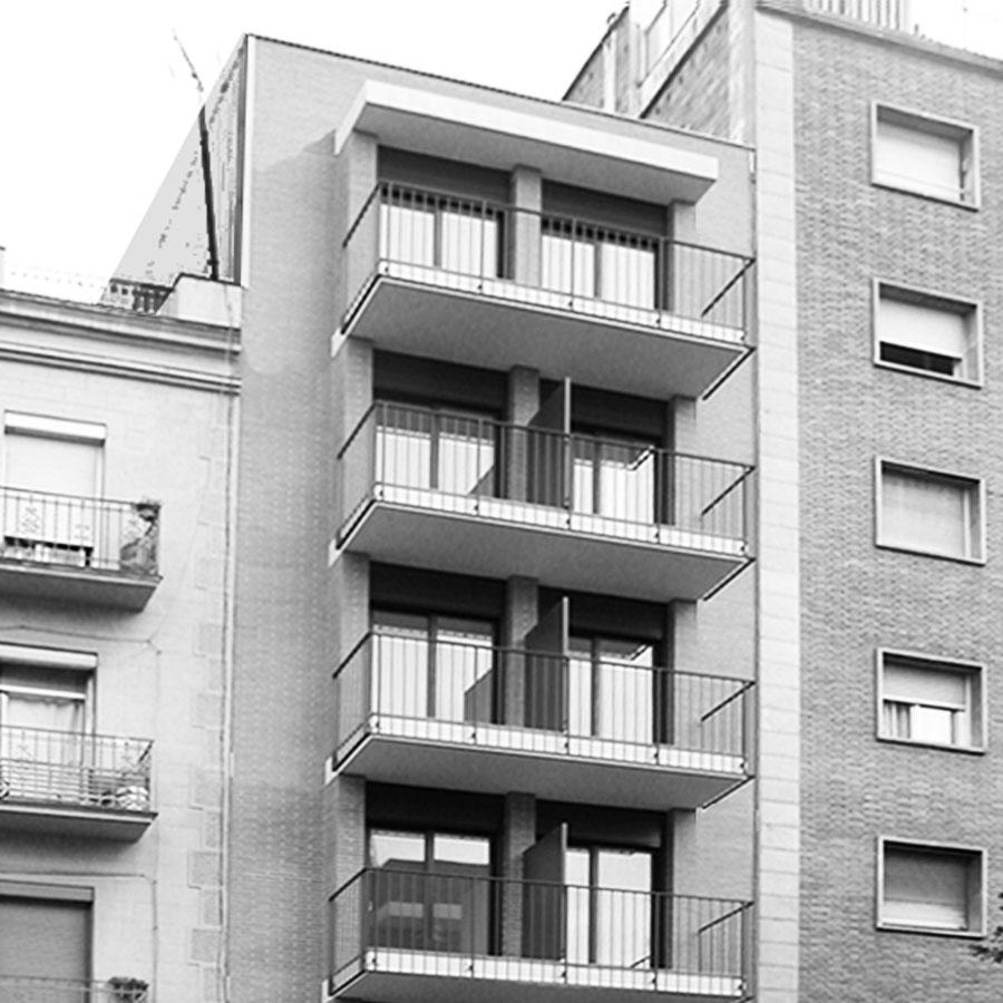 Edifici plurifamiliar 9 habitatges, carrer Navas de Tolosa, Barcelona