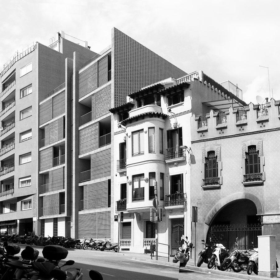 Finalistes concurs, promoció habitatges, Avinguda Vallcarca, Barcelona