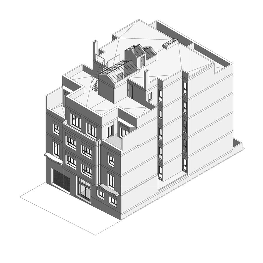experiencia, Gran rehabilitació, edifici existent 13 habitatges, carrer de Moragas, Barcelona