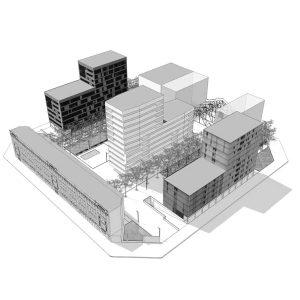 experiencia, Estudi viabilitat, rehabilitació edifici existent, equipament cultural, carrer Roc Boronat, Barcelona