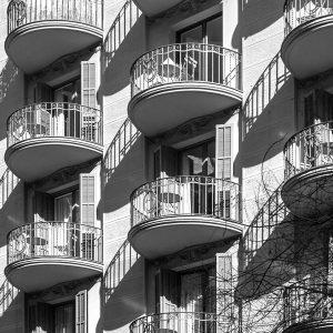 experiencia, Rehabilitació, edifici existent entre mitgeres, carrer Aribau, Barcelona
