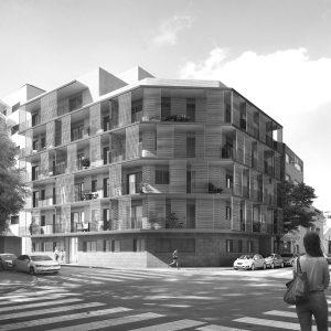 experiencia, Edifici plurifamiliar, 25 habitatges, carrer Bacardí, Hospitalet de Llobregat