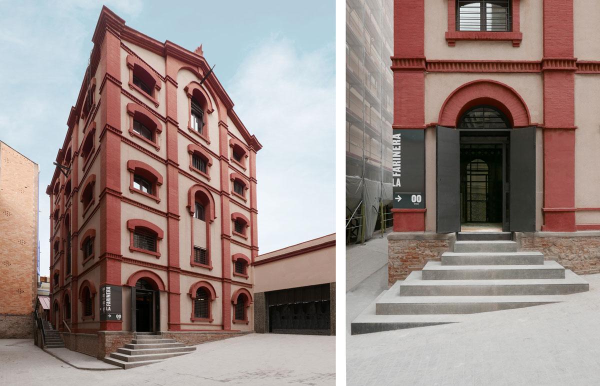 fachada, entrada la farinera, carrer aribau, barcelona