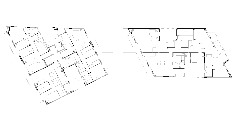 planta tipus habitatges Avinguda Meridiana 259, Barcelona