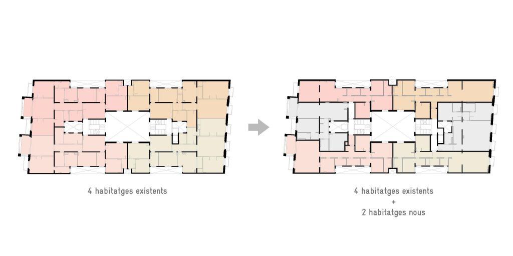 Esquemes habitatges carrer Tuset 13, Barcelona