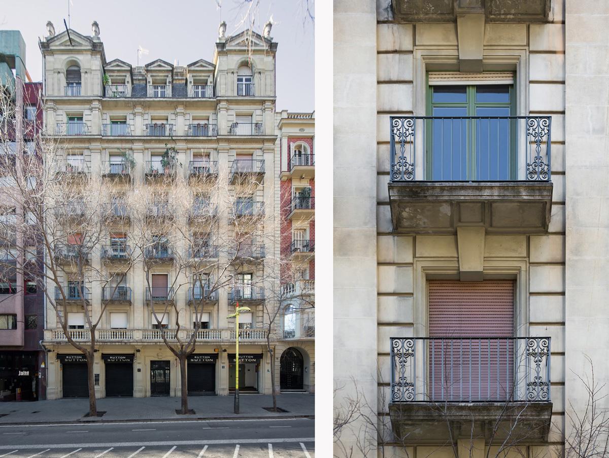 façana principal habitatges carrer Tuset, Barcelona