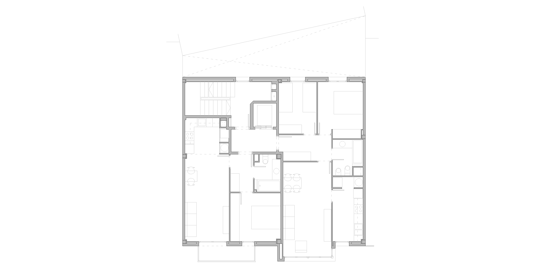 planta tipus habitatges, Barcelona