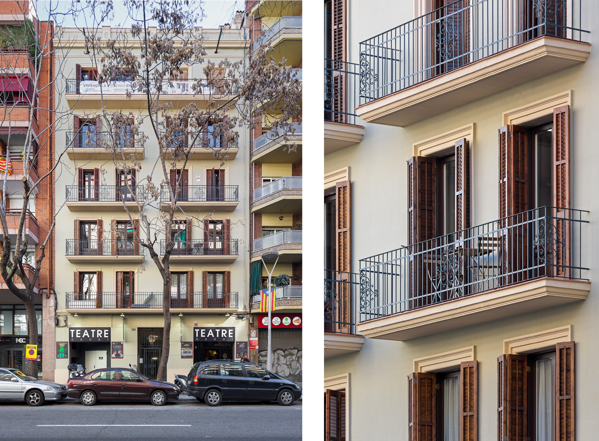 Façana habitatges, st-antoni-maria-claret-120, Barcelona