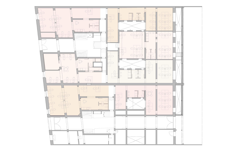 planta general, documentació gràfica, Aribau lofts, reforma oficinas, Barcelona