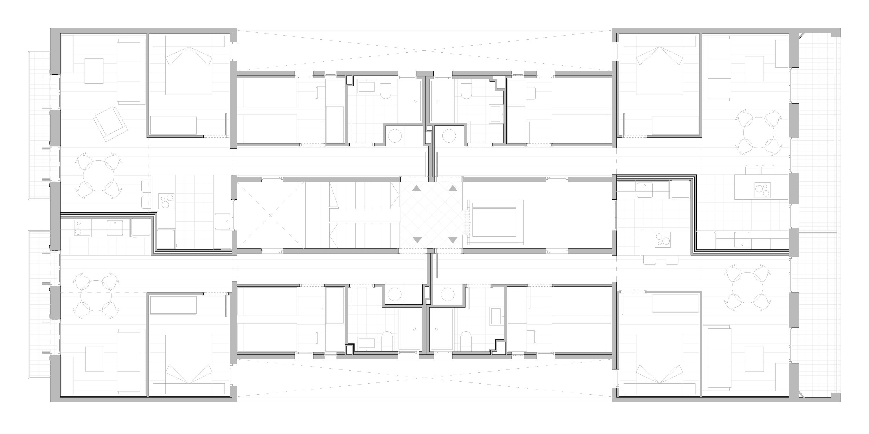 documentació gràfica, planta tipo, st-antoni-maria-claret-120