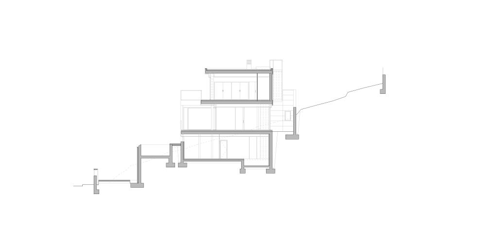 Secció, habitatge unifamiliar, Sitges