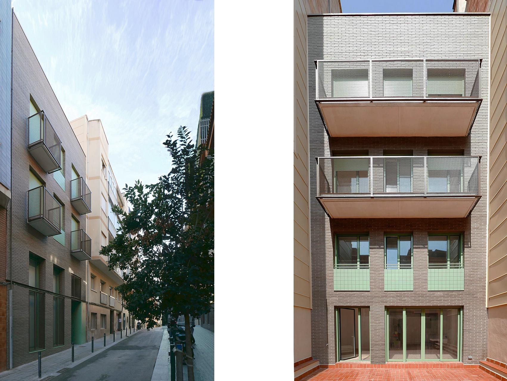 Façana principal i façana posterior, edifici plurifamiliar carrer Juan Bravo